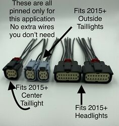 Connectors For 2008 -14 Dodge Challenge To 2015 + Hid Headlight + Led Taillight