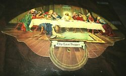 1940and039s Staffan-hildinger Funeral Home Ann Arbor Adv Fan With Last Supper Picture