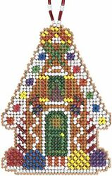 Mill Hill 2021 Beaded Holiday Counted Cross Stitch Kit Gingerbread Chalet