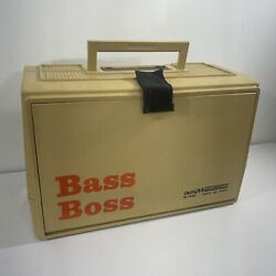 Vintage Old Pal Woodstream Bass Boss Model 7500 Fishing Tackle Box With Trays