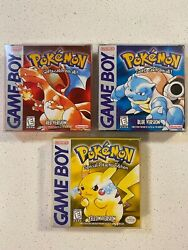 Pokemon Red Blue Yellow 1st Edition Prints Near Complete In Box Tested