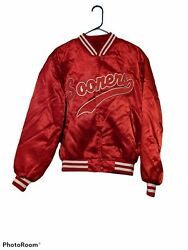 Vintage Oklahoma Sooners Red Satin Swingster College Sports Jacket L Made In Usa