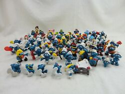 Lot Of 58 Vintage Smurfs Pvc Figures Peyo Schleich 1970and039s 1980and039s Toys Figurines