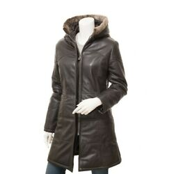 Womenandrsquos Super-lux Quilted Coat In Brown / Leather Coat Nappa Leather