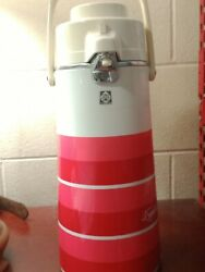 Vintage Tiger Thermos Bottle Thermal Air Lift Hot Water Coffee, Tea Colorful