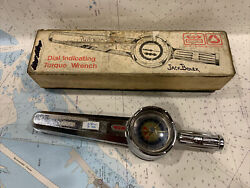 """Vintage Utica Bonney Dial Indicating Torque Wrench In Original Box. 3/8"""" Drive"""