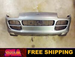 2004-2006 Porsche Cayenne S Gray Front Bumper Cover With Fog Lights And Grilles