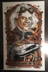 Rhys Cooper Christopher Lloyd Signed Back To The Future Print 2011 Poster Mondo