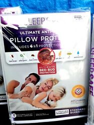 Sleep Safe Ultimate anti Bed Bug pillow Protector Lot of 4 Queen sz