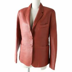Hermes Made In France Women And039s Lamb Leather Jacket Lining Silk 100 No.7064