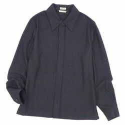 Hermes Margiela Period Cashmere Flannel Shirt Blouse Made In France No.7354