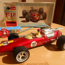 Super Beautiful Goods Tin Toy Handle Remote Control F1 Lotus With Box Bandai