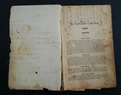 1912 Antique Carbondale Pa Cookbook W Some Handwritten Recipes Candy Dessert +++