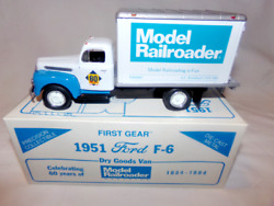 First Gear 1951 Ford F-6 Dry Goods Van Model Railroader 1/34 Scale Diecast.