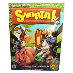 2007 Mattel Snorta Family Game Where Everyone Acts Like An Animal New Sealed