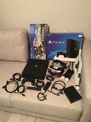 Ps4 Pro 1tb With Ps Vr Model Cuh-zvr2 And Aim Controller Bundle Sony Playstation