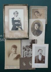 Lot Antique 7 Photographs Of The Allen And Stack Family Seaford Wilmington De Dc