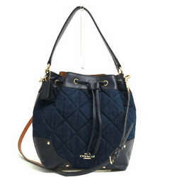 Coach F37242 Mickie Drawstring Shoulder Crossbody In Quilted No.3669