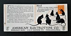 Antique American Electrotype Co Moral Mouse Silhouette Ink Blotter Paper Ad Nos