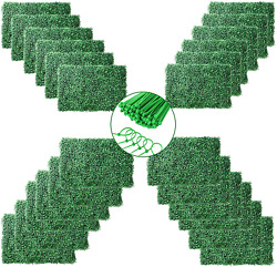 Natgai 4 Layers Leaves Artificial Boxwood Panels Topiary Hedge Plant Privacy Uv