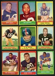 1963 Topps Complete Set Ex-mt Starr Brown Lilly Unitas 414731 Kycards