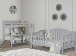 Toddler Day Bed In Grey, Safety Rail.