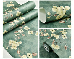 Damask Wallpaper Self Adhesive Contact Paper Non-woven Floral Retro Wall Decal