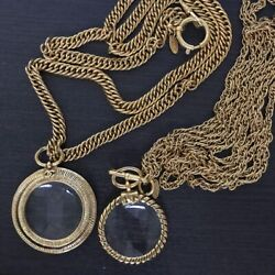 Loupe Necklace Set Of 2 Vintage Accessories Goods From Japanese K11232