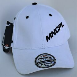 Municipal Bar And Dining Co Mncpl Baseball Cap Hat Size S/m Stretch Fit White Nwt