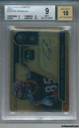 2020 Panini Elements Gold 128 Tee Higgins Auto Rookie Bengals 67/79 Bgs 9