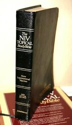 The Niv Topical Study Bible Black Bonded Leather Red Letter 1989