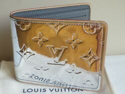 Louis Vuitton Silver Mirror Monogram Slender Wallet 2021 Brand New Sold Out