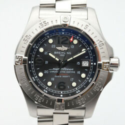 Breitling A179b72prs Super Ocean Steel Fish Black Dial Stainless No.4446