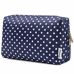 Makeup Bag Zipper Pouch Travel Cosmetic Organizer for Women and Large Polka Dot $16.74