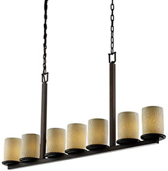 Justice Design Group Limoges 7-light Chandelier - Dark Bronze Finish With Bamboo