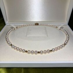 K14 Akoya Pearls Necklace Vintage Accessories Goods From Japanese K11292