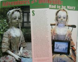 18p History Article + Paper Doll - Antique 18thc. English Queen Anne Doll House