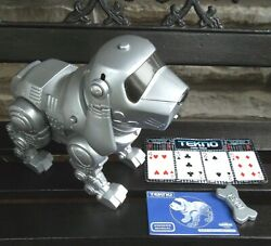 Vtg Tekno Robotic Puppy Dog Manley Toy Quest Owner's Manual Bone Game See Video