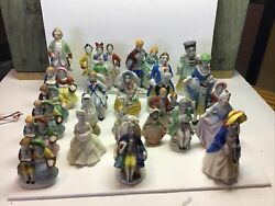 24 Vintage Figurines Japan/hand Painted Occupied Japan Victorian/colonial Dress