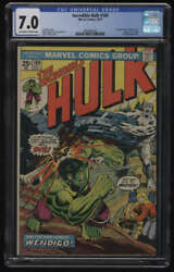 Incredible Hulk 180 Cgc 7.0 Ow/w Pgs 1st Appearance Wolverine Cameo Marvel