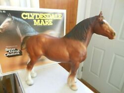 Breyer Horse 83 With Original Box Chestnut Clydesdale Mare Chris Hess Mold 1969