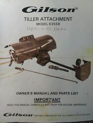Gilson Montgomery Ward Lawn Garden Tractor Tiller Implement Owner And Parts Manual