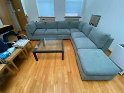 Sectional Couch 5-piece From Workbench Vintage Gray. In Excellent Condition.