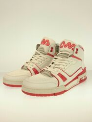 Louis Vuitton High Cut Sneakers Us7.5 Wht Shoes Previously Owned No.9034