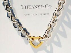 Heart Link Choker Necklace Vintage Accessories Goods From Japan K11497