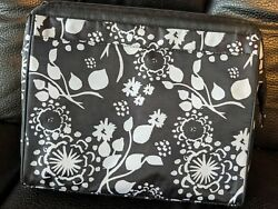 Thirty One 10th Anniversary Brush Strokes Black White Cosmetic Bag Large $15.99
