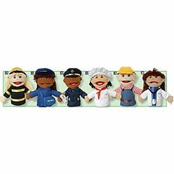 Marvel Education Company Multi-ethnic Career Puppets For Kids Set Of 6