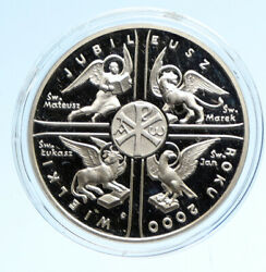 2000 Poland - Great Jubilee Polish Vintage Proof Silver 10 Zlotych Coin I95757
