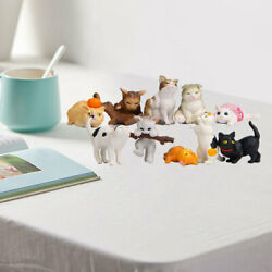 10x Cute Pvc Cat Figures Animal Figurines Home Decor Collectibles Gifts