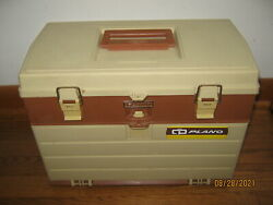 Vintage Plano Plastic Tackle Fishing Box Usa 757 4-drawer With Extra Box's